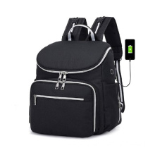 USB Mummy Baby Felt Diaper Bag Backpack